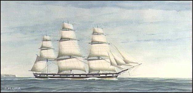 BOUND FOR SOUTH AUSTRALIA - BUSSORAH MERCHANT - 1848 by DIANE CUMMINGS